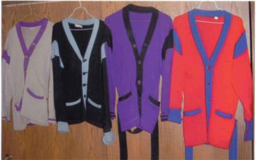 Captured Sweaters from various rival gangs