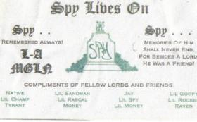 Lawndale Memorial Card 1984