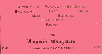Original Imperial gangsters card